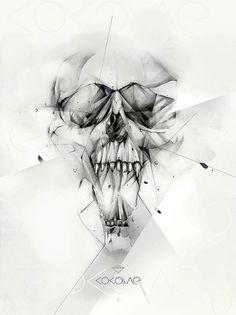 Cocaine on the Behance Network #illustration #skull