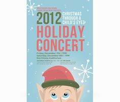 2012 Holiday Show Poster #elf #snow #christmas #holiday #poster #music