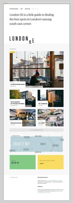 London SE #website #layout #design #web