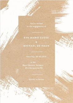 White Paint - Engagement Invitations #paperlust #engagement #engagementinvitation #invitation #engagementcards #engagementinspiration #wedd