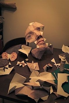 Papercraft Self Portrait - Josh Spear, Trendspotting