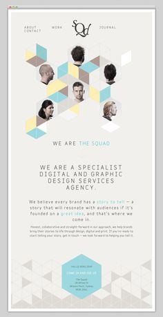The Squad #layout #website #web #web design