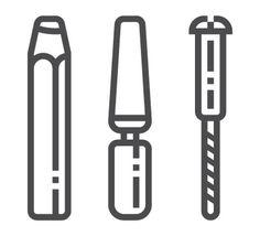 Brignolo Icons #icons #grid #pictograms #screw #pencil