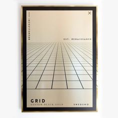 """Grid"" - From our new aluminium originals series, Fake Gold / Wrong edition. Insppired by Bruneleschi :) Printed on metal canvas using a de #inspiration #nordicdesign #frame #smedsmo #perspective #print #design #structure #black #artwork #grid #illustration #poster #gold #art #metal #fakegold #aluminium #shiny #typography"