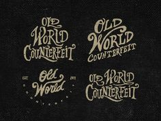 trendgraphy:Old World Counterfeit by Steve Wolf #typography #up #drawn #hand #lock