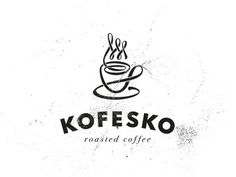 Kofesko #roasted #saucer #coffee #logo #cup