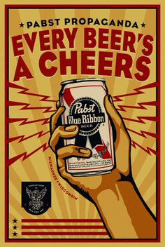 Pabst Blue Ribbon Poster Design By Rev Pop #graphic design #advertising #poster #pabst