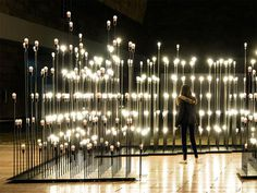 LEDscape: A Lightbulb Landscape in Portugal #bulbs #light #installation