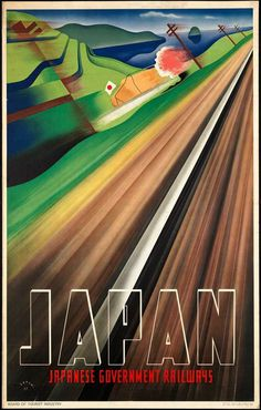 Japan Rail Poster #rail #illustration #travel #japan