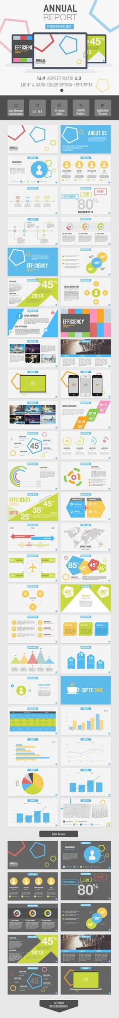 Annual Report Powerpoint Template - Business PowerPoint Templates
