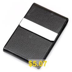 Men #Business #Durable #Classic #Card #Case #- #BLACK