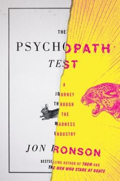 design:related gallery - The Psychopath Test by Jon Ronson cover design by... #book cover