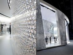 Swarovski stand by Tokujin Yoshioka, Basel Switzerland exhibit design #diamonds #glitter