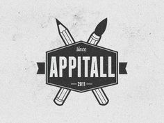 Dribbble - Appitall logo by Vadim Sherbakov #logo #creative #brush