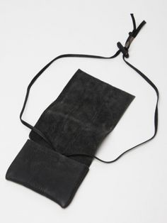 Boris Bidjan Saberi Leather Pouch Wallet | Por Homme - Men's Fashion, Footwear, Culture and Lifestyle Magazine #boris #wallet #product #leather #bidjan
