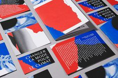 Changer la mode pour le Climat branding graphic design blue red by solide design studio paris france mindsparkle mag
