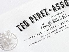 Dribbble - Ted Perez Branding - Letterhead Crop by Alex Rinker