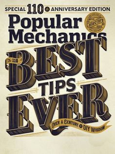 Typeverything.com Popular Mechanics Cover #lettering #typeverything #publication #magazine #typography