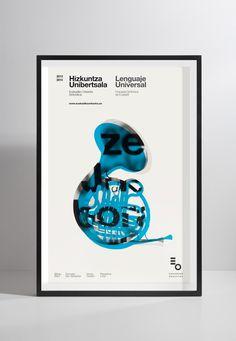 Husmee - Studio Graphique! Orquesta Sinfónica de Euskadi #poster #typography