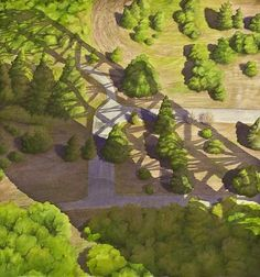 CentraliaNeighborhood.jpg (565×603) #artwork #paint #painting #art #trees #beauty