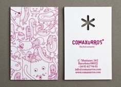 Comaxurros #branding #business #card #design #graphic #brand #identity #stationery #logo