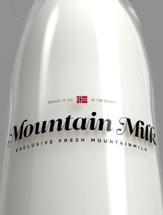 Tine Melk Mountain Milk on Behance #script #branding #packaging #design #graphic #logo #identity #type #typography