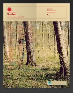 The Visual Mixtape on the Behance Network #map #poster #bon iver