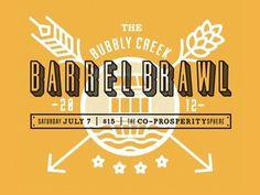 Dribbble - Barrel Brawl Logo by Eileen Tjan #dribbble #yellow #tjan #eileen #bubbly #creek #barrel #brawl