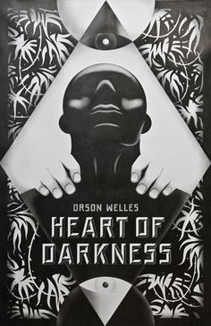 Heart of Darkness - La Boca #heart #white #darkness #of #graphid #design #book #black #boca #cover #la #and #type
