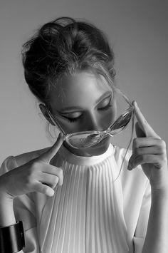 Fashion photography(Danielle Weaver Wears Saint Laurent & Dior Sunglasses ByMaria Sumina, viaopaqueglitter)