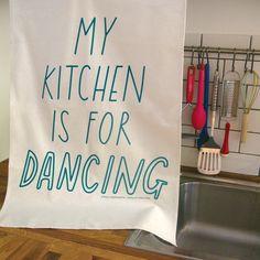 Kitchen Dancing Tea Towel #sally #2011 #of #ex #foundation #joy #beerworth