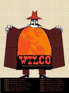 WILCO- FLASHER « Limited Edition Gig Posters « Methane Studios #design #illustration #gig poster #screen print #wilco #methane studios