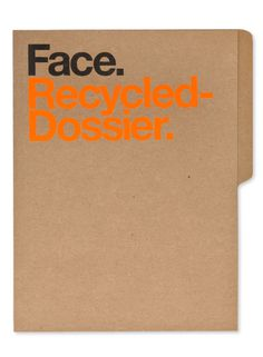 Face — Design by Face. #print #dossier #folder #stationery