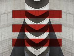 Spine of god #spine #abstract #concrete #red #carpark #of #reflection #god