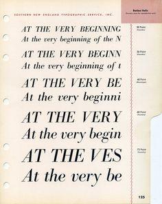 A vintage specimen of the Bodoni Italic font #type #specimen