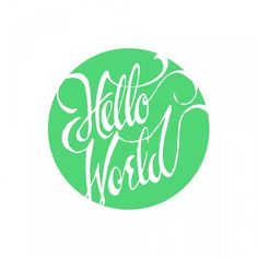 hello world script #lettering #typography