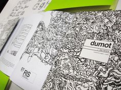 Inbetweendays — Dumot is a book that illustrates fragments of a... #cover #book #typography
