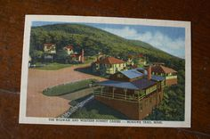 The Wigwam: Mohawk Trail, MA #north #adams #ma #berkshires #trail #landscape #illustration #massachusetts #vintage #postcard #cabins #mohawk