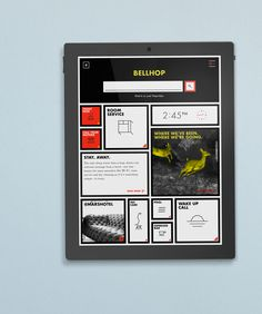 Bellhop digital app for The Mars Hotel via Patrick Iadanza #hotel #mars #app
