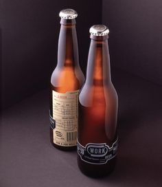 WORK Beer : Lovely Package® . Curating the very best packaging design. #packaging #beer
