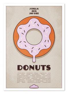 Listen to J Dilla #j #typography #design #graphic #doughnut #music #dilla