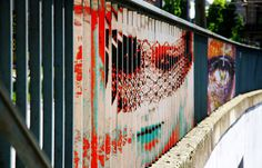 CJWHO ™ (Hidden Railing Street Art That Can Only Be Seen...) #hidden #design #germany #illustration #art #street