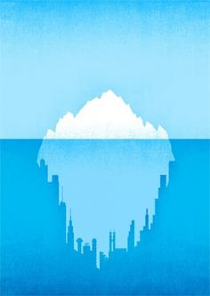 Hidden City #water #iceberg #city #graphic #global #warming #blue