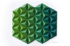Green Paper Tops, by Cecilia Hedin