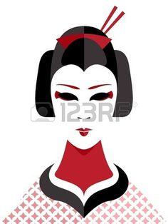 geisha, lips #geisha