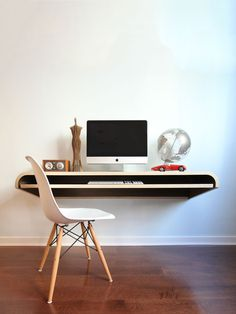 Float Desk Walnut Gilt Home #gilt #environment #clean #product #desk #minimal #mac