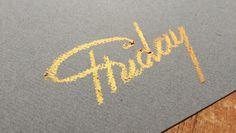 #friday #hand #lettering #handlettering #pastel #gold