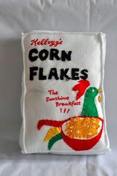 The Corner Shop - 4,000 Handmade Felt Products — The Dieline #lucy #food #cereal #felt #flakes #corn #sparrow