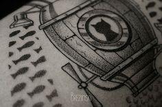 Ilya Brezinski dotted tattoos