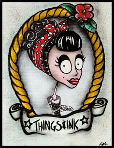 Things&Ink #marker #cardboard #things&ink #thingsink #illustration #tattoo #art #50s